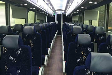 Inside View of Bus Charter